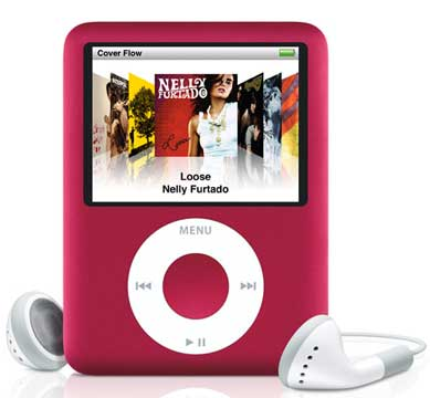 RED Ipod Nano - perfect for listening to M-People